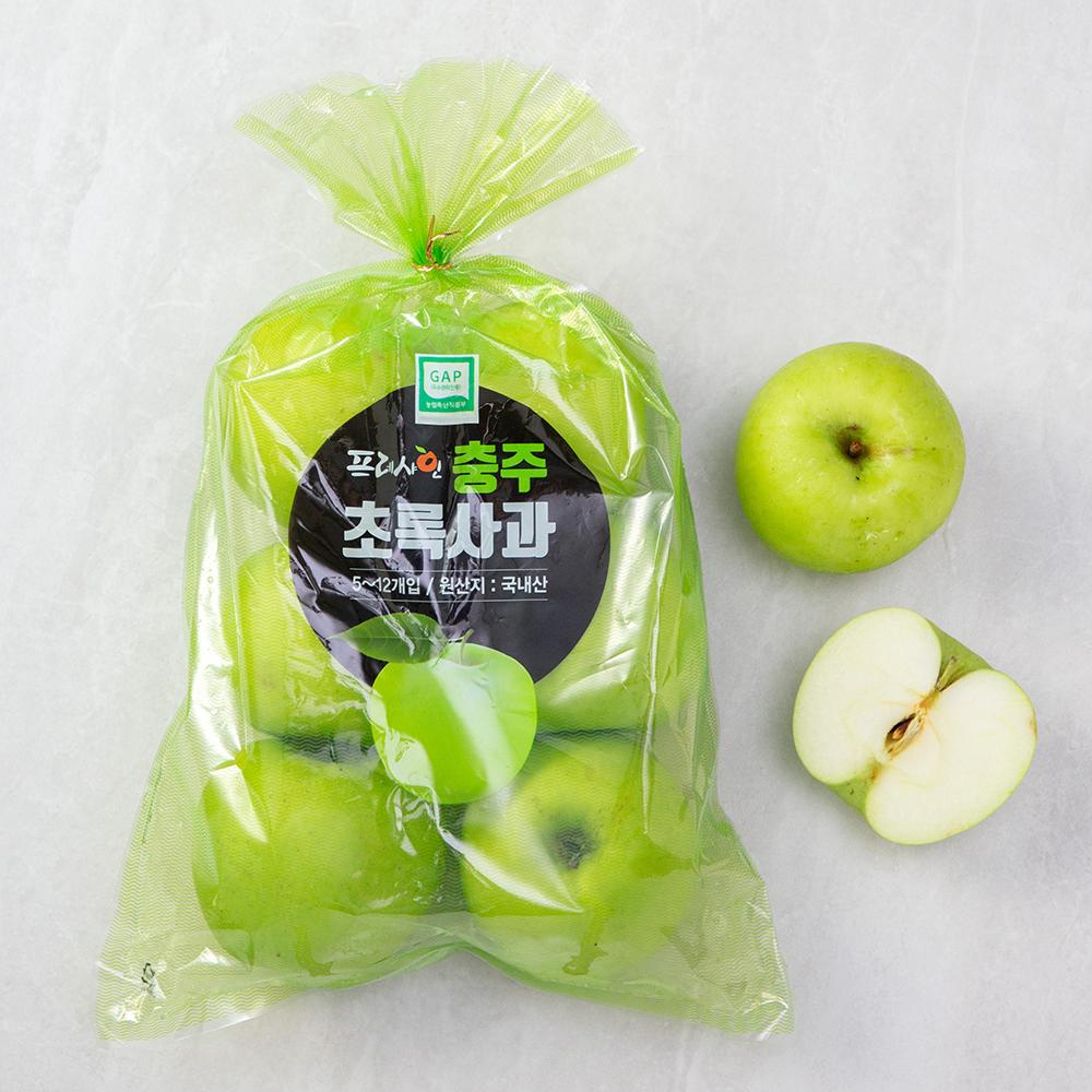 프레샤인 GAP 인증 충주 아오리사과, 1.3kg(5~9입), 1봉