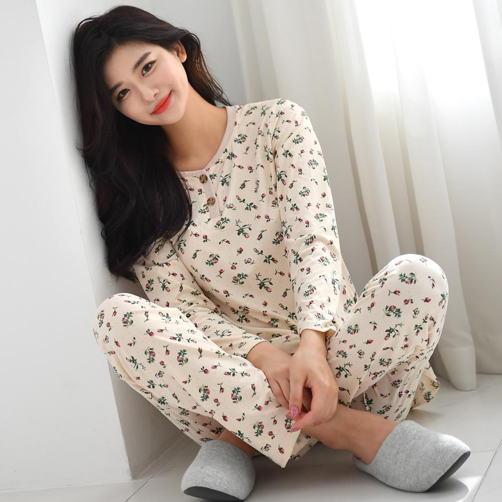 피케이컴퍼니 여성용 일자 상 하의 피치기모 잠옷