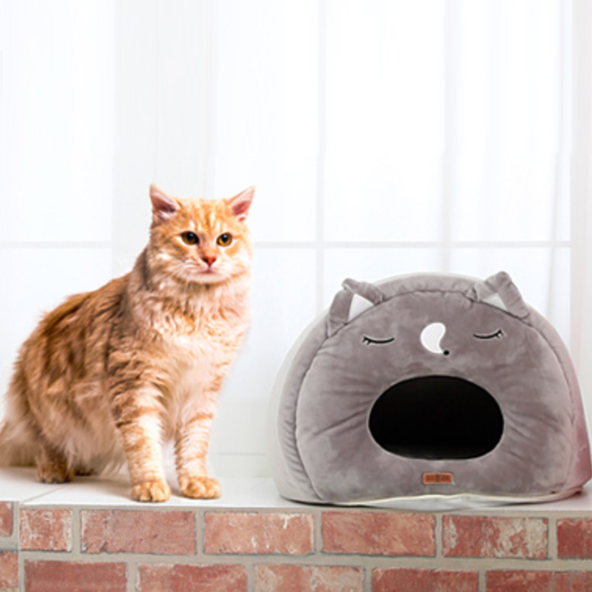 더플래 쿨쿨냥 고양이 하우스, 그레이
