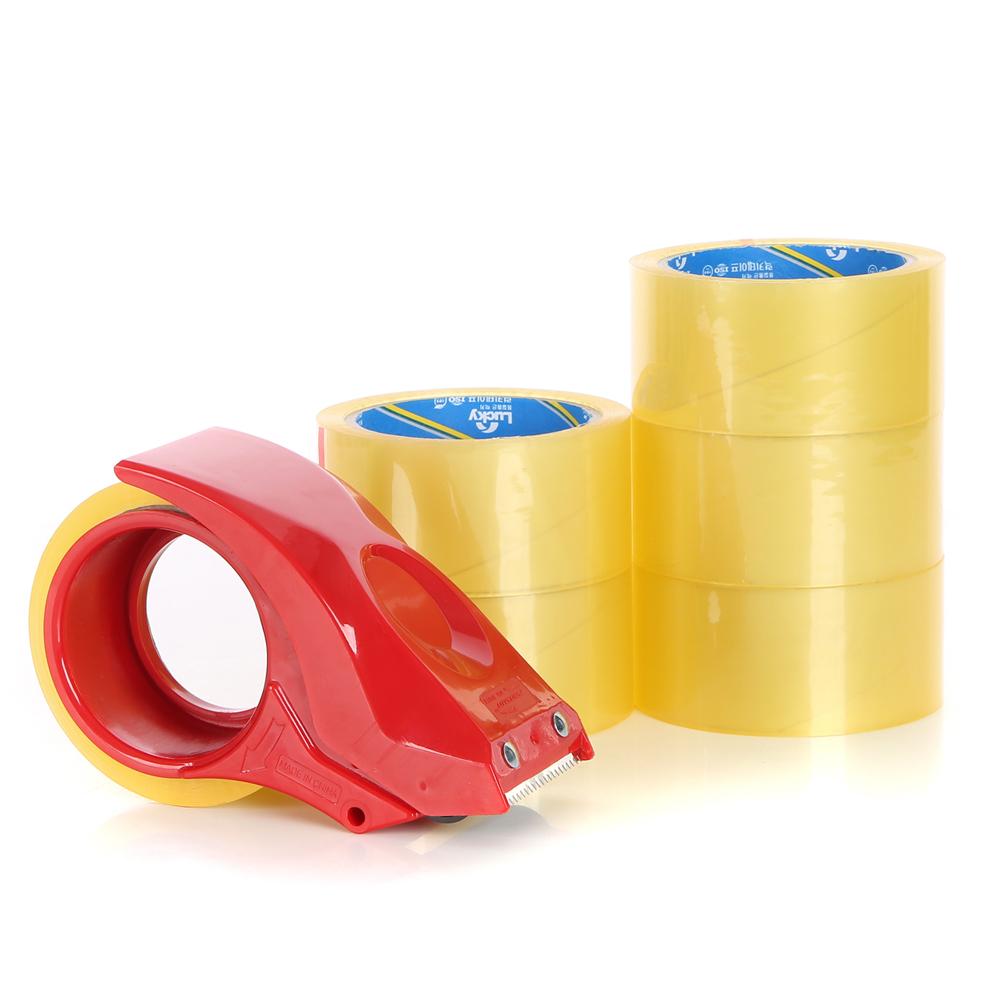코멧 투명 박스테이프 50M x 6P + 커터기 세트 57mic, 1세트