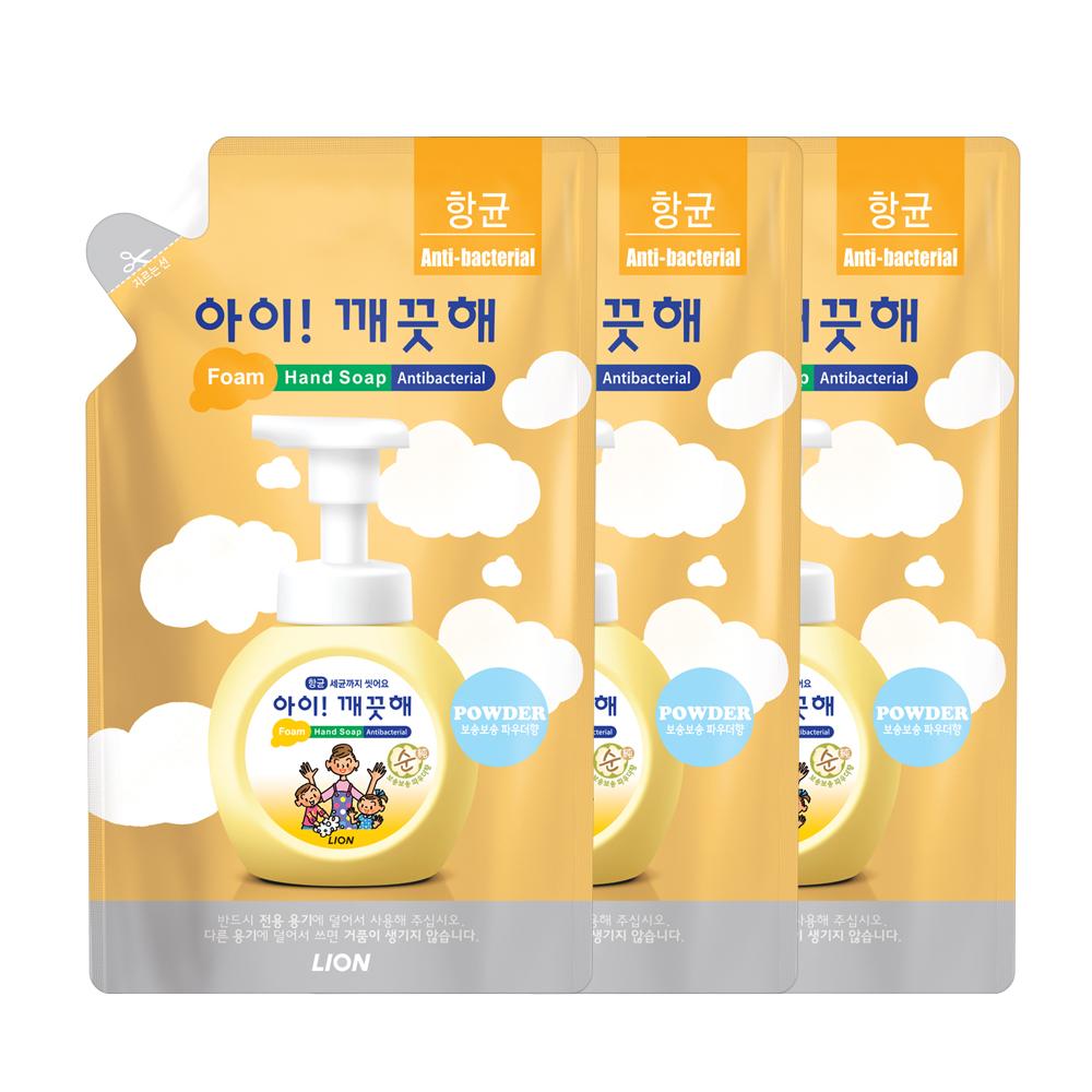 아이깨끗해 향균 거품 핸드 솝 순 리필, 450ml, 3개입