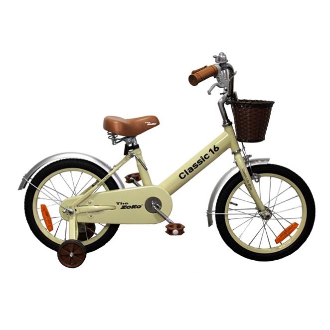 조코 2019년 클래식16 유아동 체인자전거, 크림색