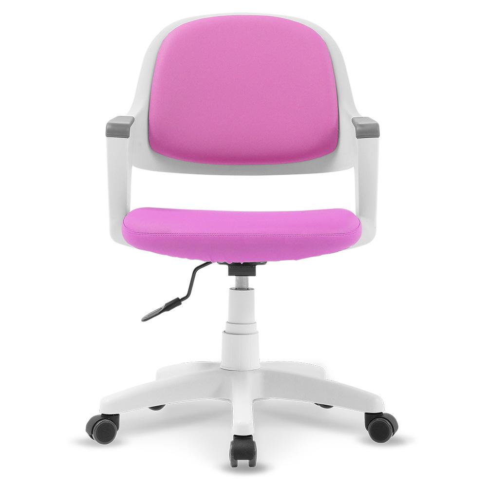 체어클럽 터치백 인조가죽 화이트바디 의자, 핑크