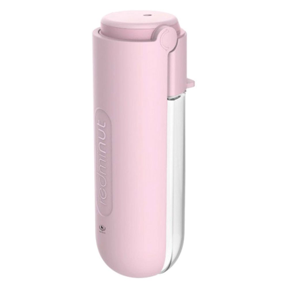 딩동펫 반려동물용 접이식 휴대용 파스텔 물병, 핑크, 1개