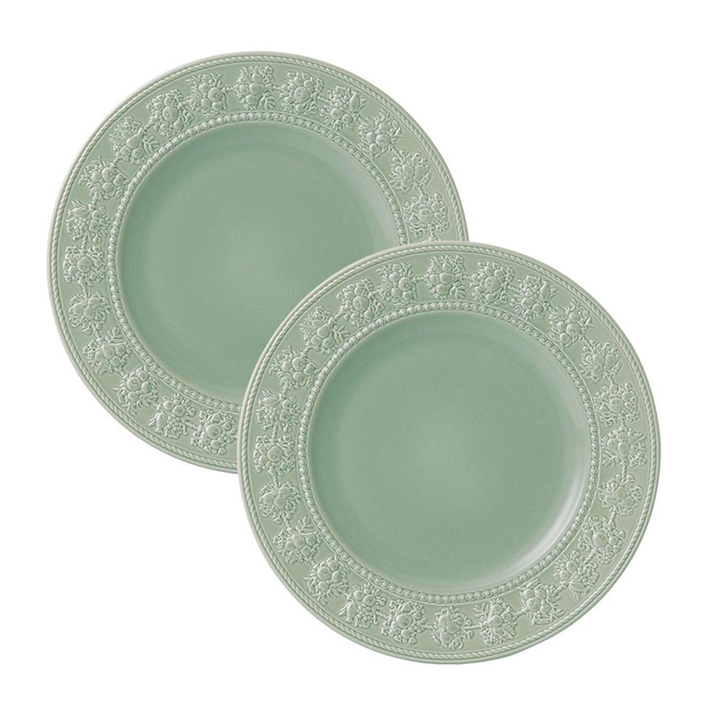 웨지우드 페스티비티 27cm 접시, 2p, 그린 접시