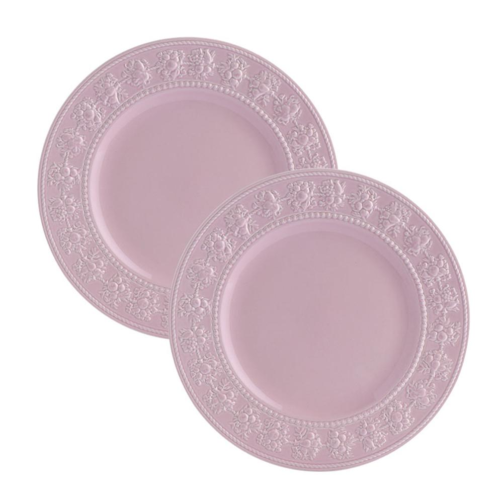 웨지우드 페스티비티 27cm 접시, 2p, 핑크 접시