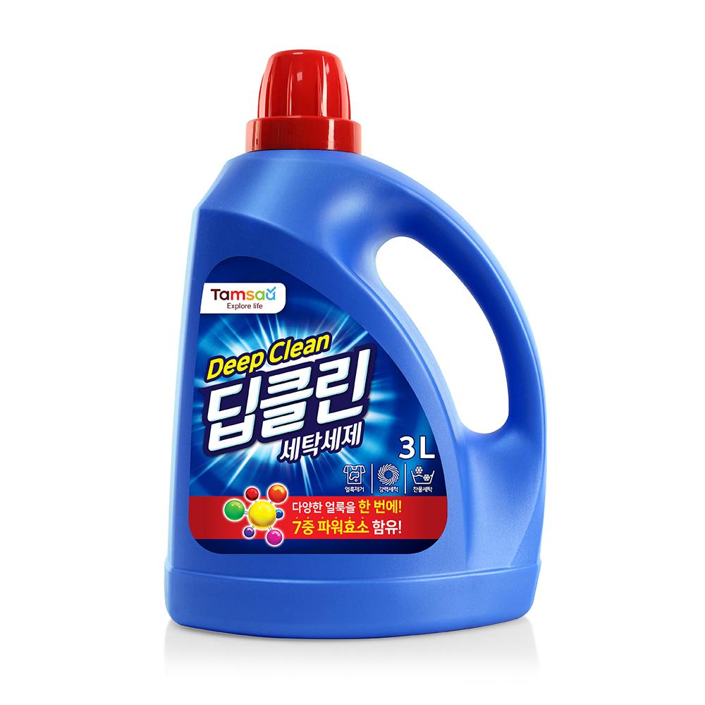 탐사 딥클린 액체 세탁 세제 본품, 3L, 1개