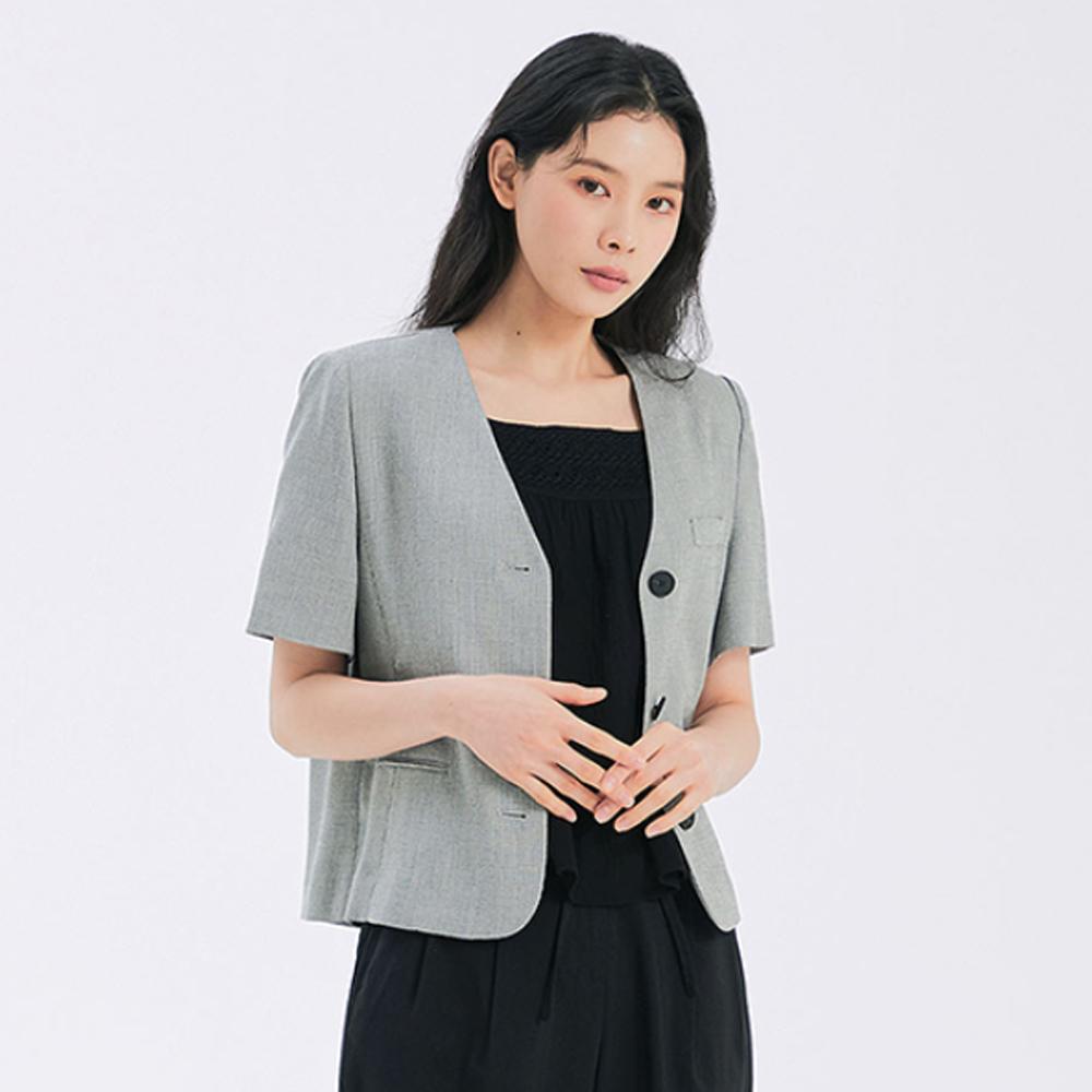 [여성패션] 미쏘 여성용 브이넥 반팔 숏 재킷 - 랭킹6위 (59900원)