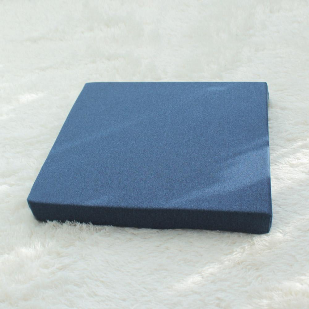 홈인홈 미끄럽지 않은 메모리폼 사각방석, 블루