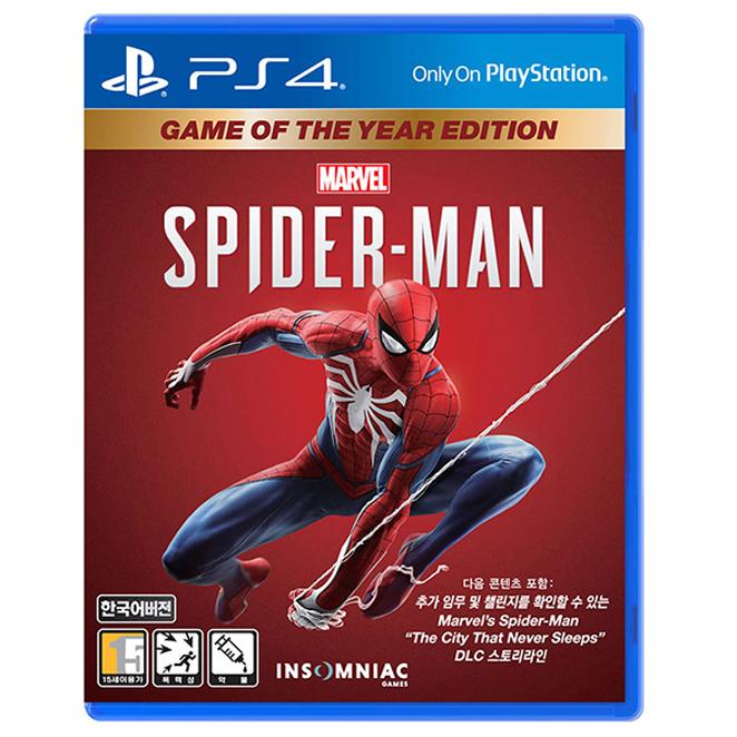 소니 PS4 스파이더맨 GOTY 에디션 한글판, 단일 상품