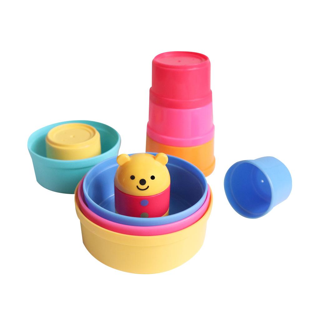 콤비 컵온컵스 곰돌이 컵쌓기, 혼합 색상, 1개