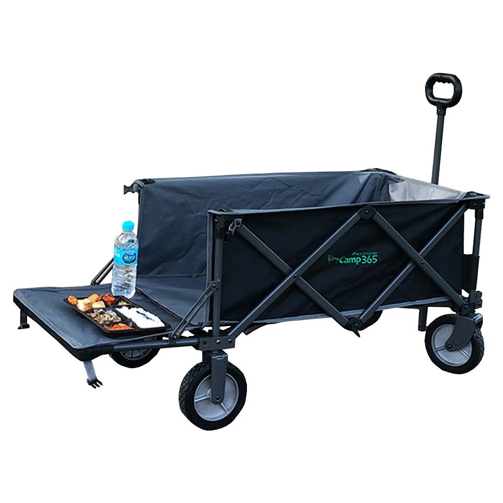 캠프365 스포츠 웨건뒷문 확장형 캠핑카트 + 4단 고리로프, 그레이, 1세트
