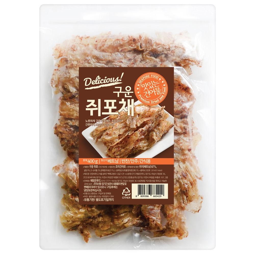 해맑은푸드 구운 쥐포채, 400g, 1개