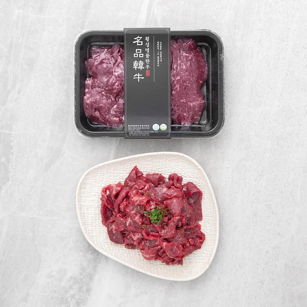 횡성한우 1등급 불고기용 (냉장), 300g, 1개