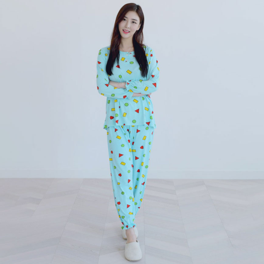 씨엘스토리 여성용 울라도형 피치기모 잠옷 상하세트