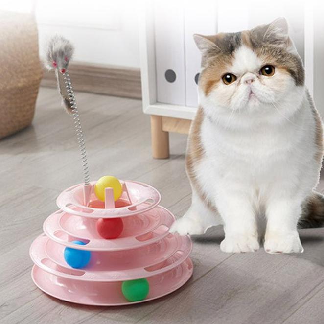 딩동펫 고양이 쥐잡이 트랙볼 장난감, 핑크, 1개