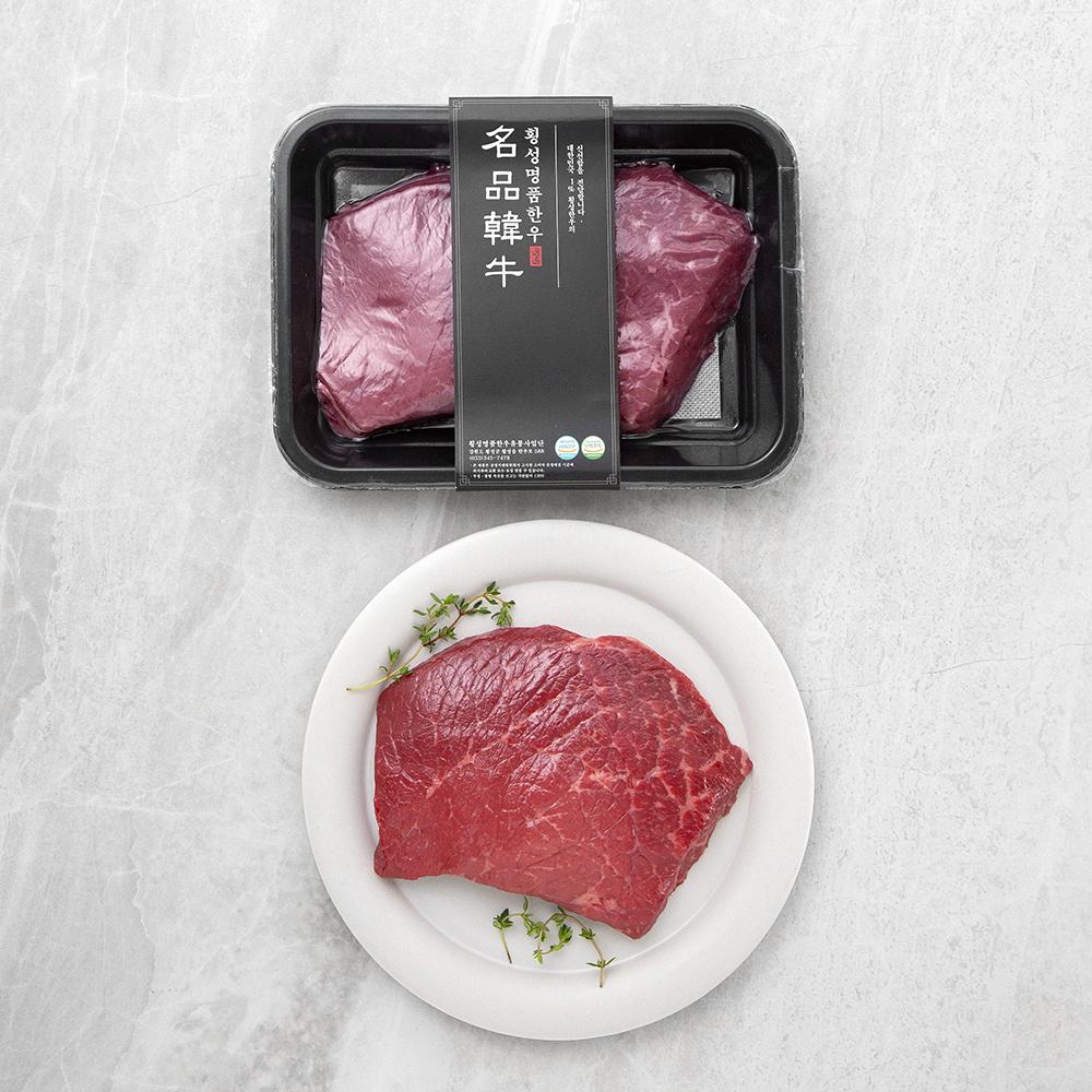 횡성한우 1+등급 우둔 (냉장), 300g, 1개
