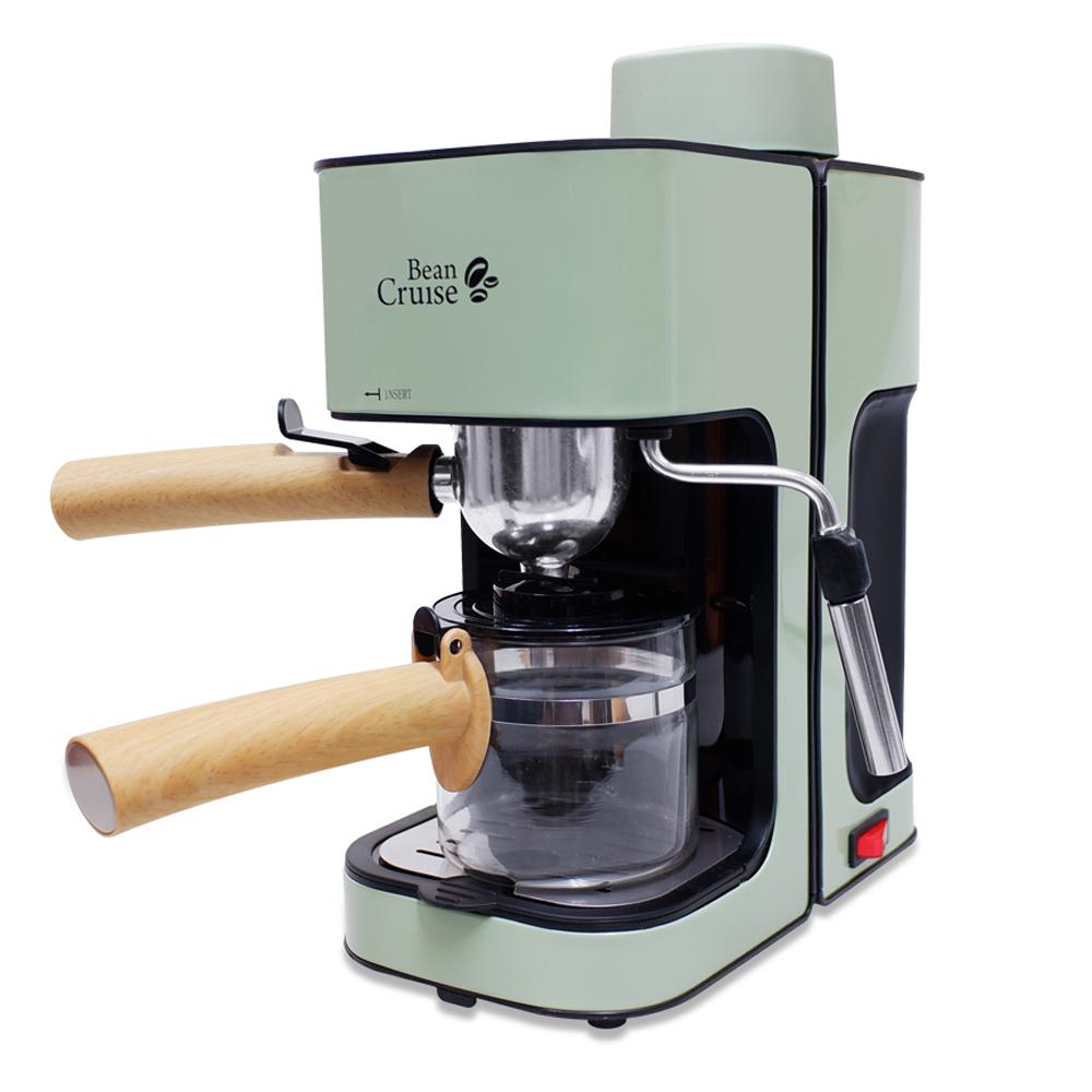 빈크루즈 미니에쏘 가정용 반자동 커피머신, BCC-450ES(올리브그린)