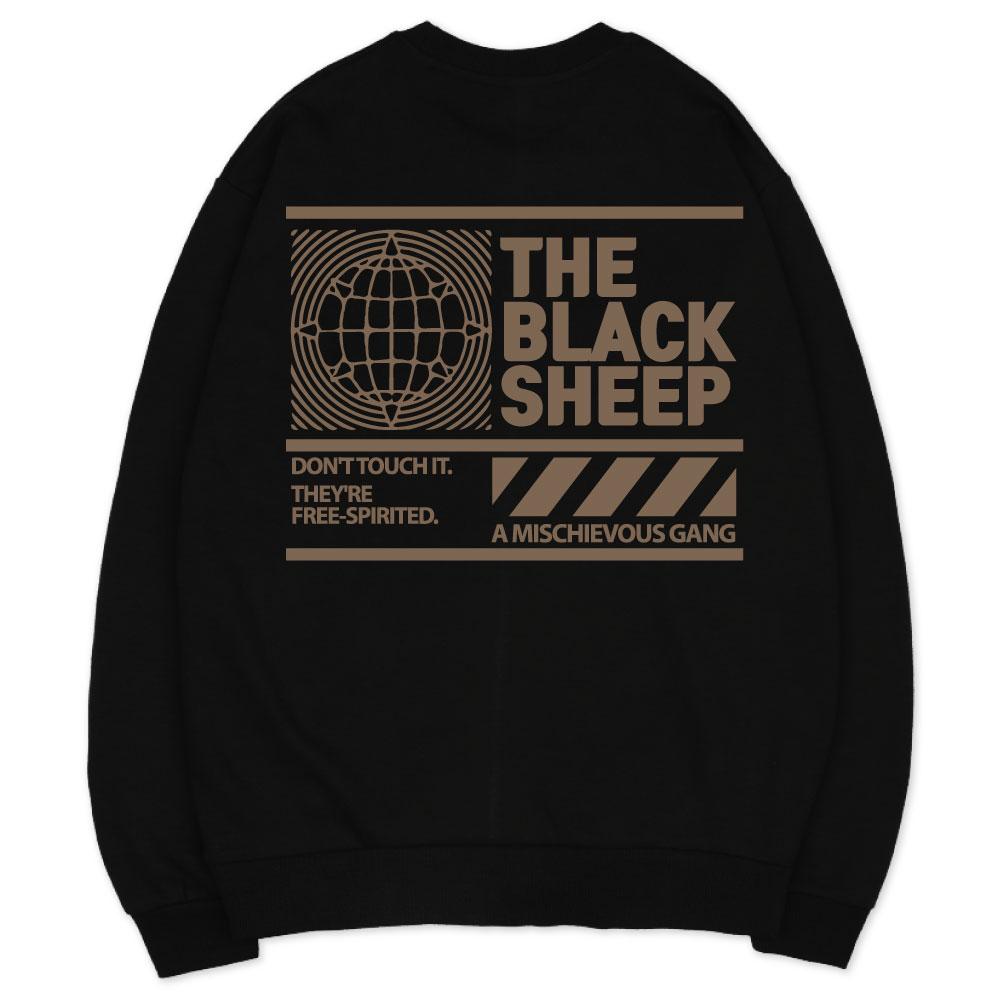 벤힛 블랙쉽 세미 오버핏 특양면 맨투맨
