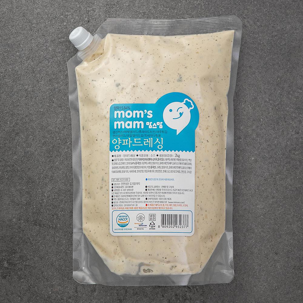 맘스맘 양파드레싱, 2kg, 1개