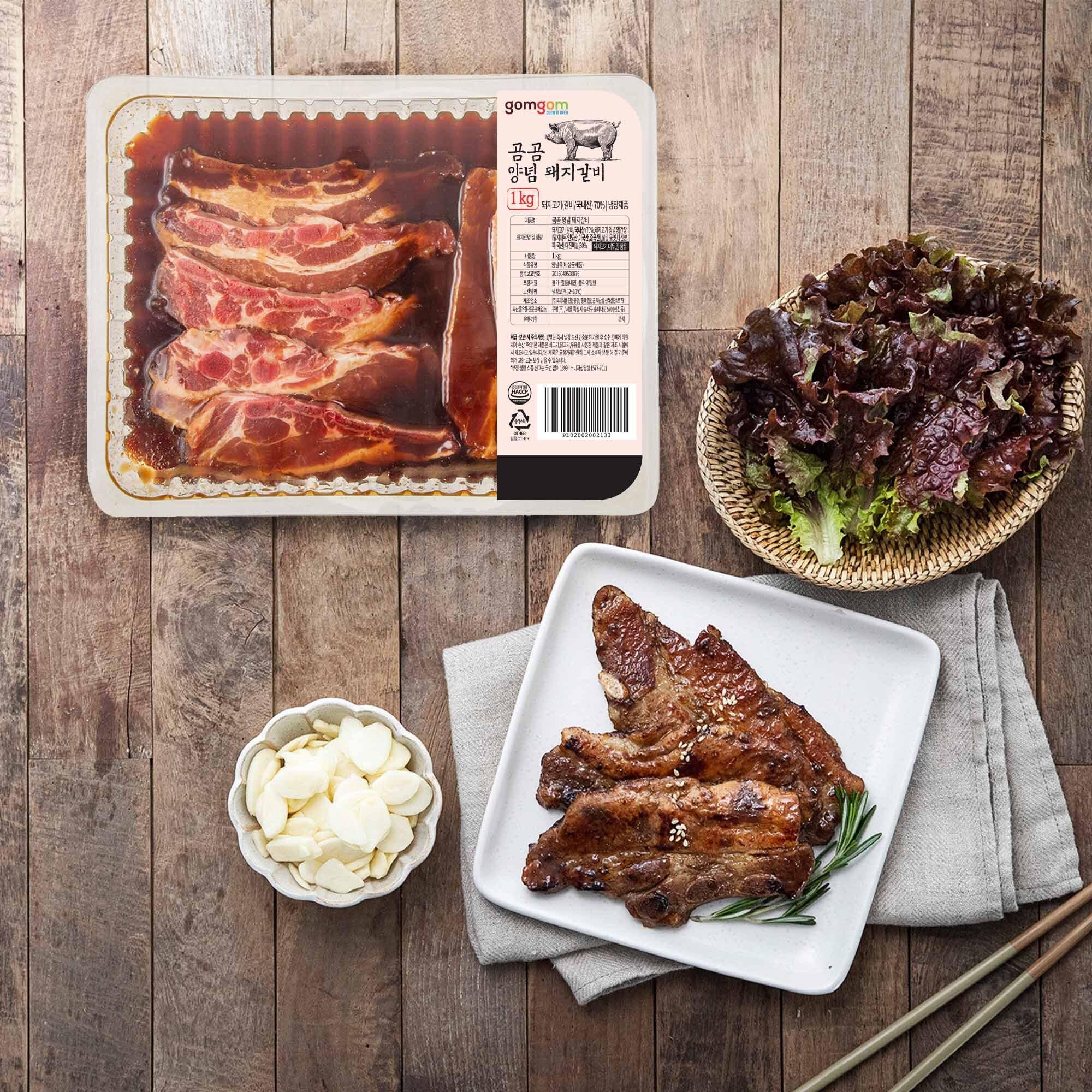 곰곰 국내산 양념 돼지 갈비 (냉장), 1kg, 1개