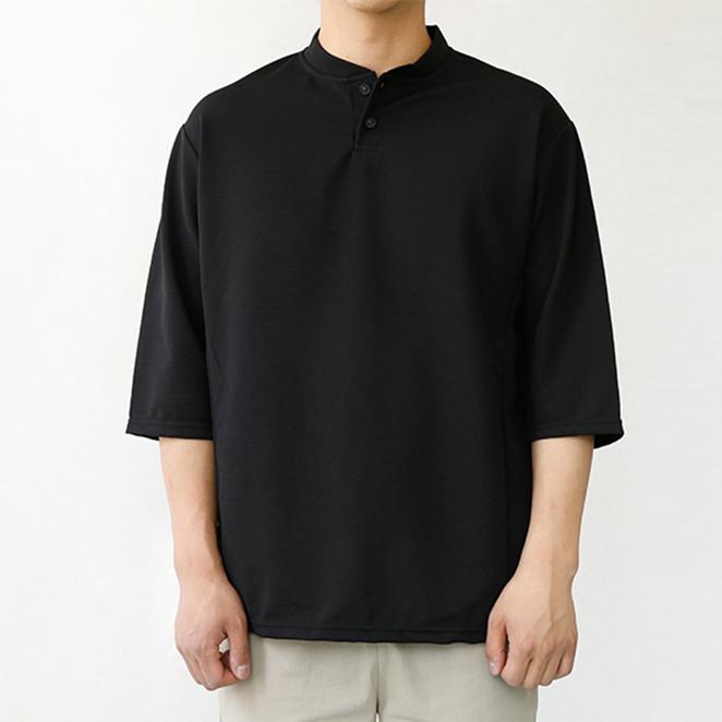 해리슨 남성용 헨리넥 7부 티셔츠 CS1298