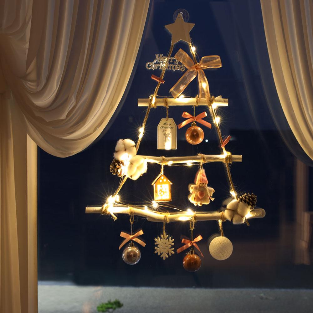 이플린 크리스마스 함박라떼 벽트리 가랜다 풀세트 3단 + 선물상자, 핑크