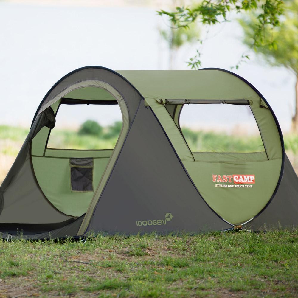 [스포츠/레저] 패스트캠프 베이직3 원터치 텐트, 올리브그린, 3~4인용 - 랭킹84위 (45000원)