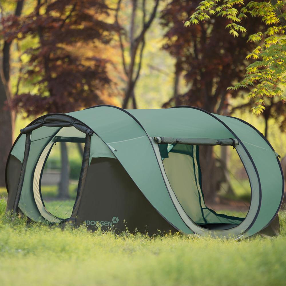패스트캠프 슈퍼빅5 원터치 텐트, 올리브그린, 4-5인용
