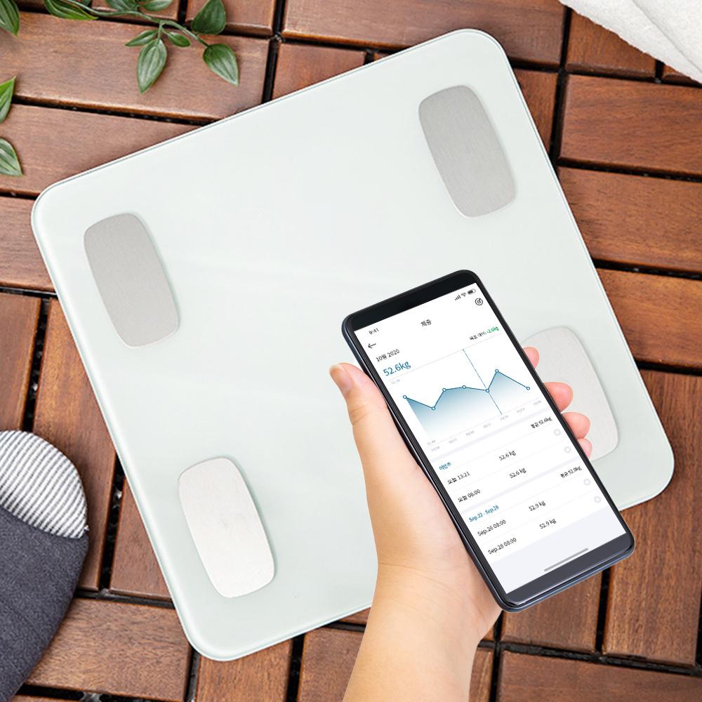 홈플래닛 스마트 인바디 체중계, 화이트