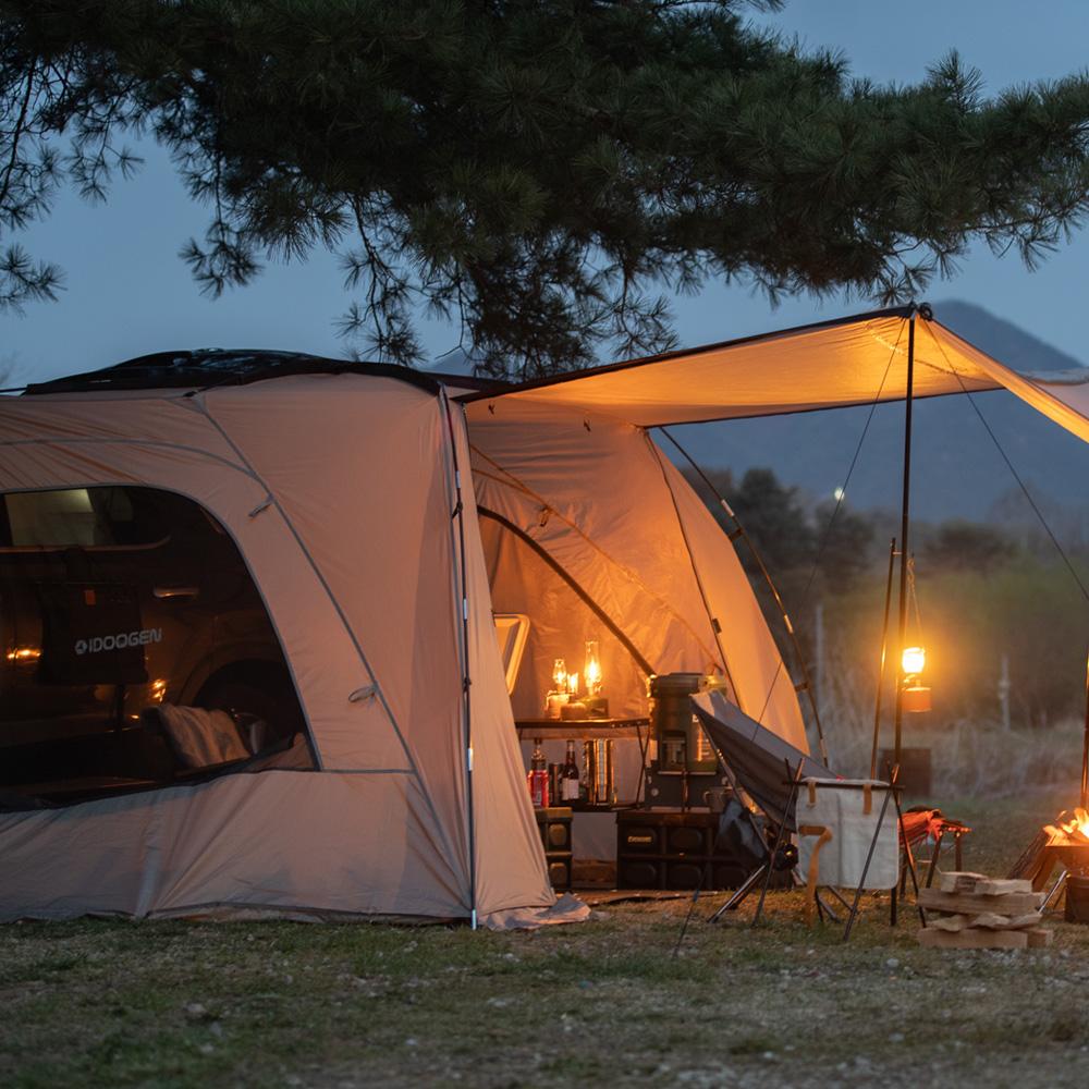 아이두젠 모빌리티 A1 차박 쉘터 도킹 카 차량용 텐트 대, 라이트그레이