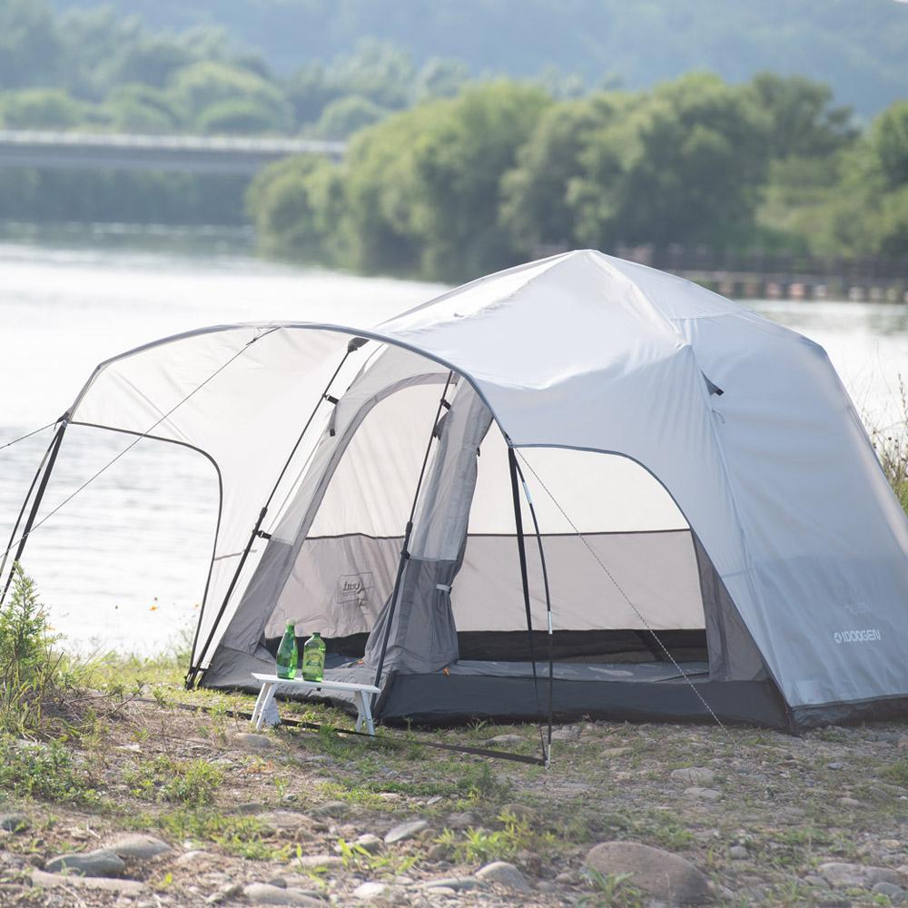 아이두젠 트라이베카 2DOOR 원터치 오토 텐트 캡플라이 패키지, 라이트그레이