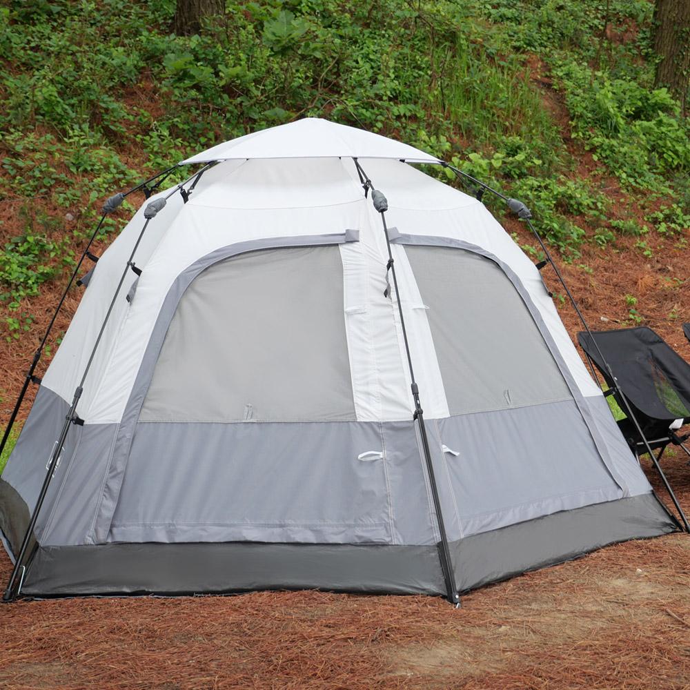 아이두젠 트라이베카 2DOOR 원터치 오토 텐트, 라이트그레이