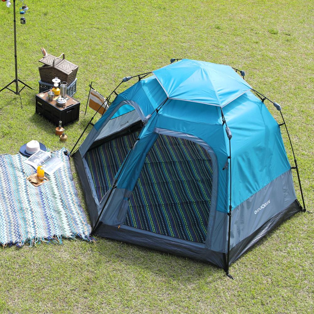 아이두젠 트라이베카 2DOOR 원터치 오토 텐트, 틸블루