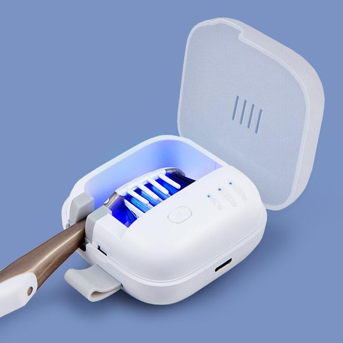 홈플래닛 UVC-LED 충전식 휴대용 칫솔살균기 (자석 탈착 벽걸이 거치대 포함), MR-UVC01
