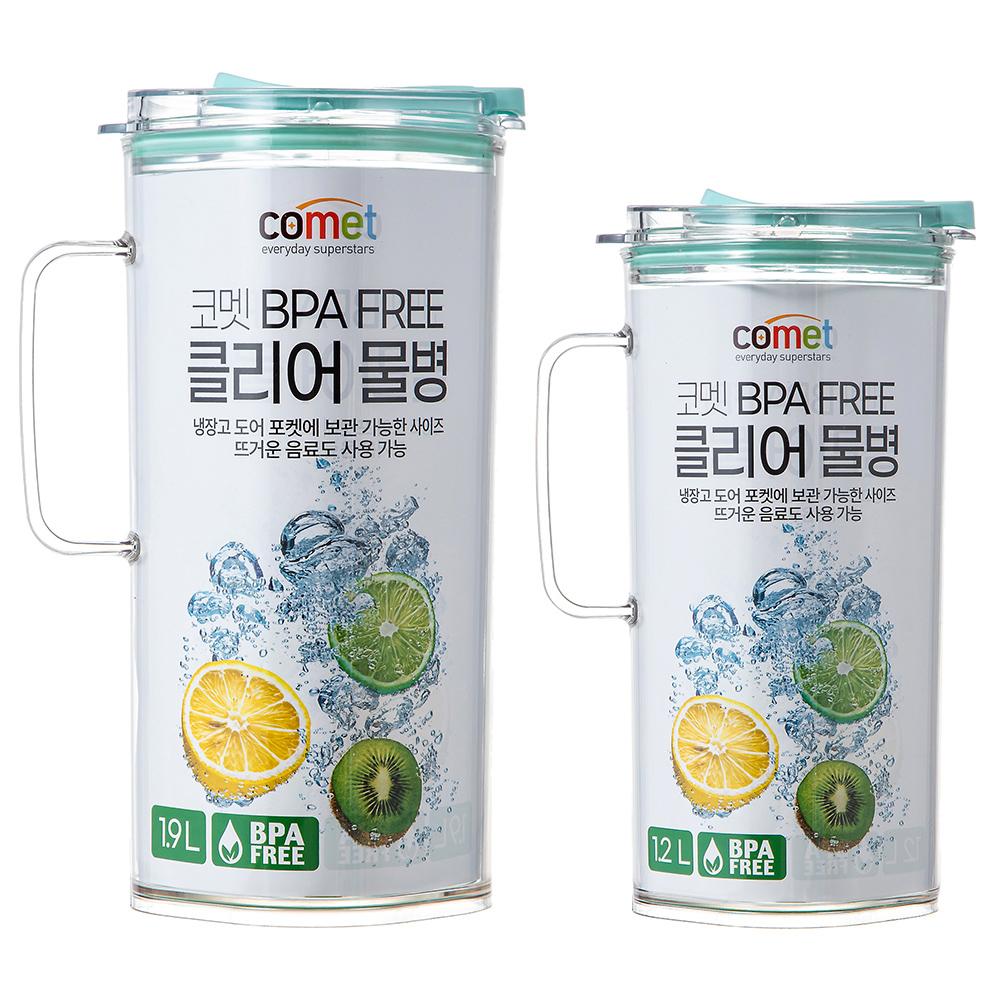 코멧 냉장고 물병 1.9L + 1.2L 세트, 1세트