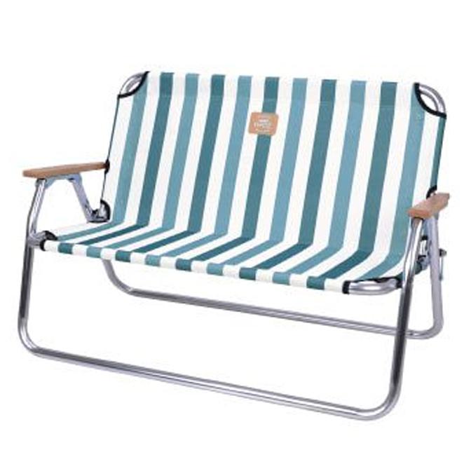 스노우라인 폴딩벤치 의자, 스트라이프 블루, 1개