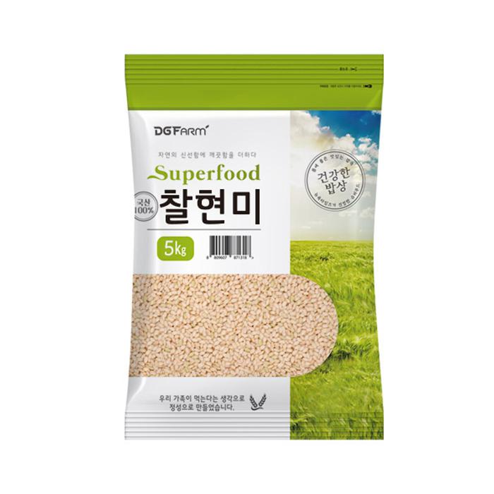건강한밥상 국산 찰현미, 5kg, 1개