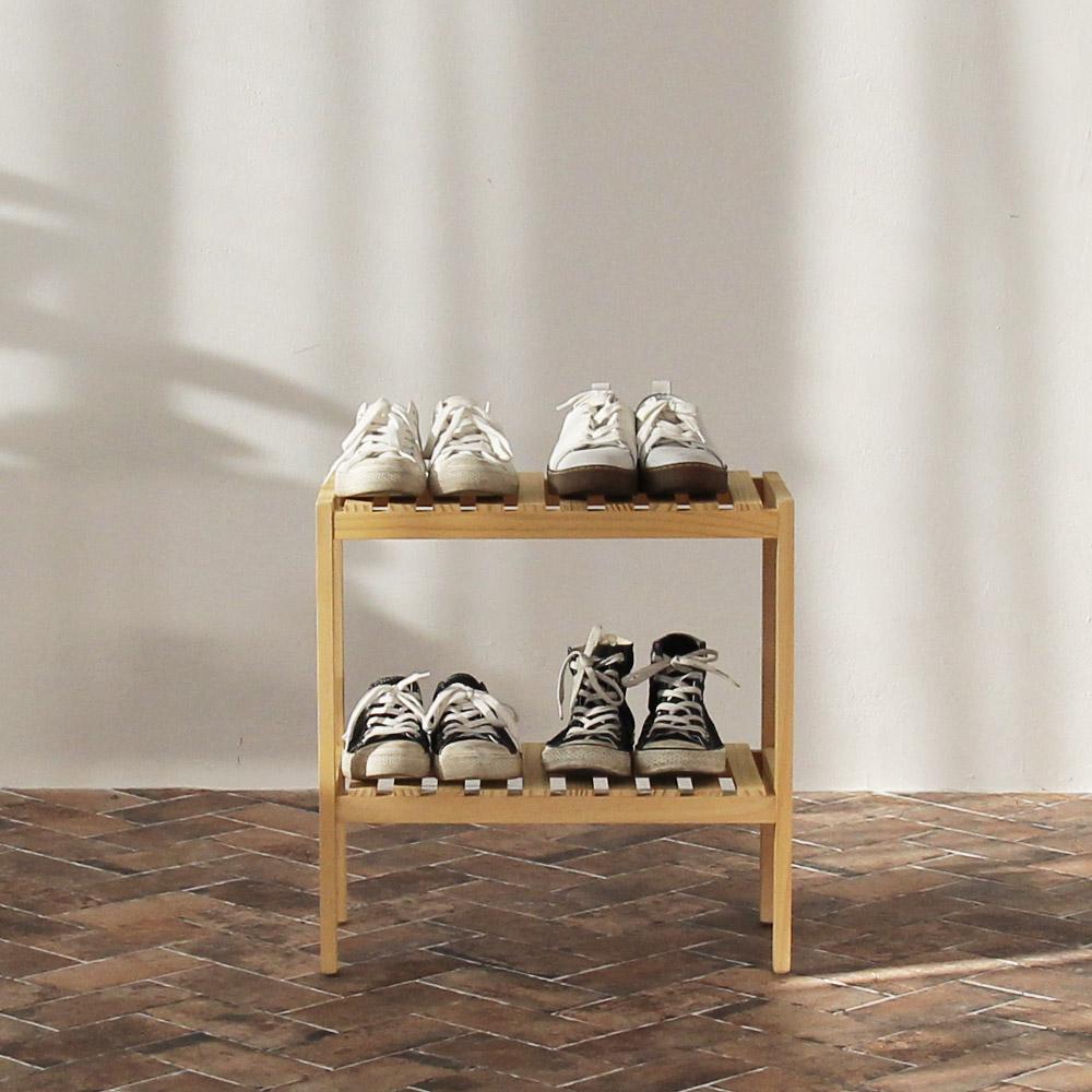올리빙 원목 벤치 신발장 2단 500