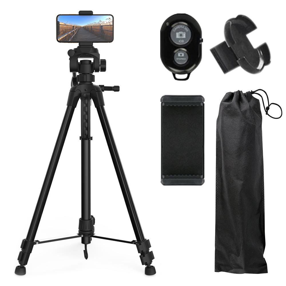 바나다 전문가용 3단 삼각대 + 스마트폰 홀더 + 블루투스 리모컨 + 리모컨 홀더 + 삼각대 파우치, BND-TP4110
