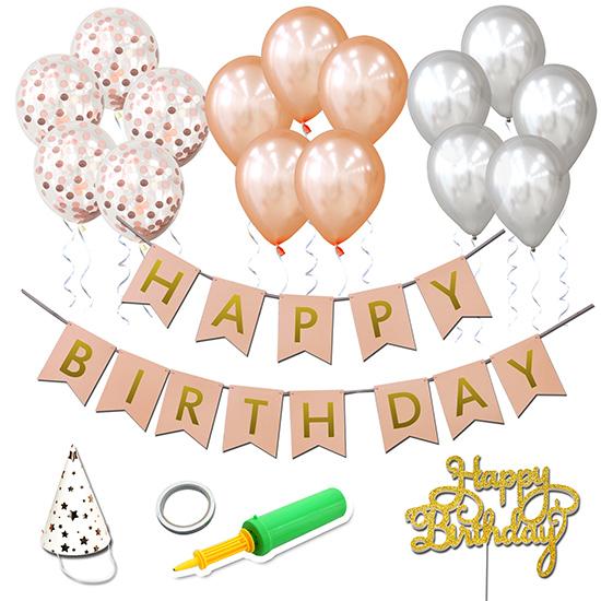 베이비베이커리 DIY 가랜드 생일파티 이지 플러스세트, 핑크, 1세트