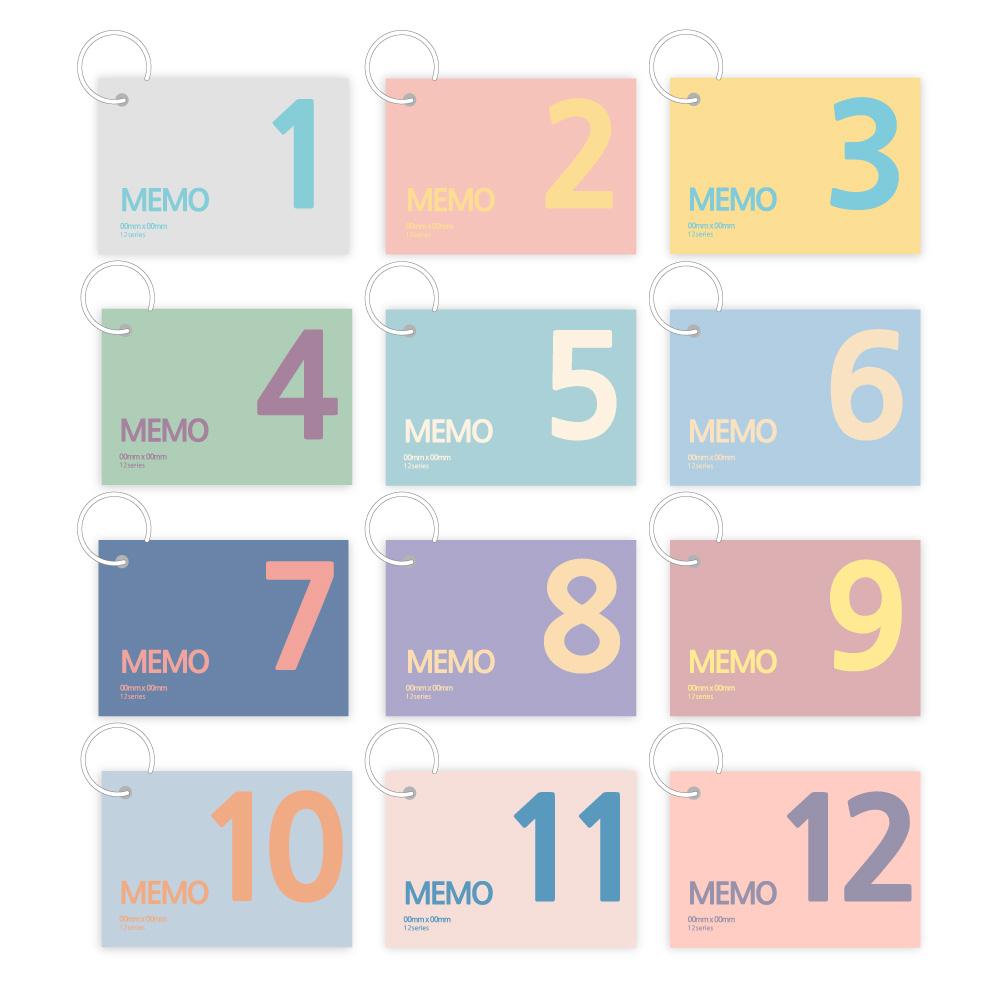 더오픈하우스 12링 단어장 155매 23-5990, 혼합 색상, 12개