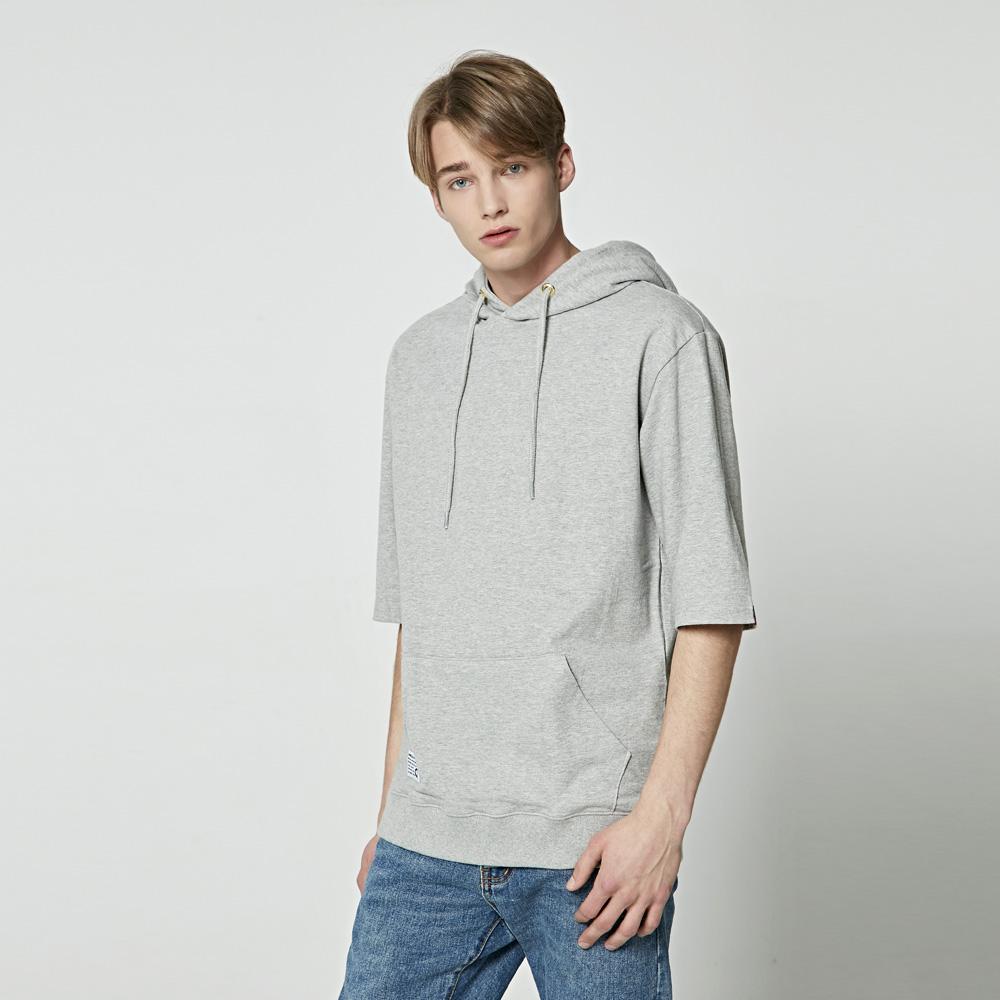 앨빈클로 베이직 후드 반팔 티셔츠 AST-3521