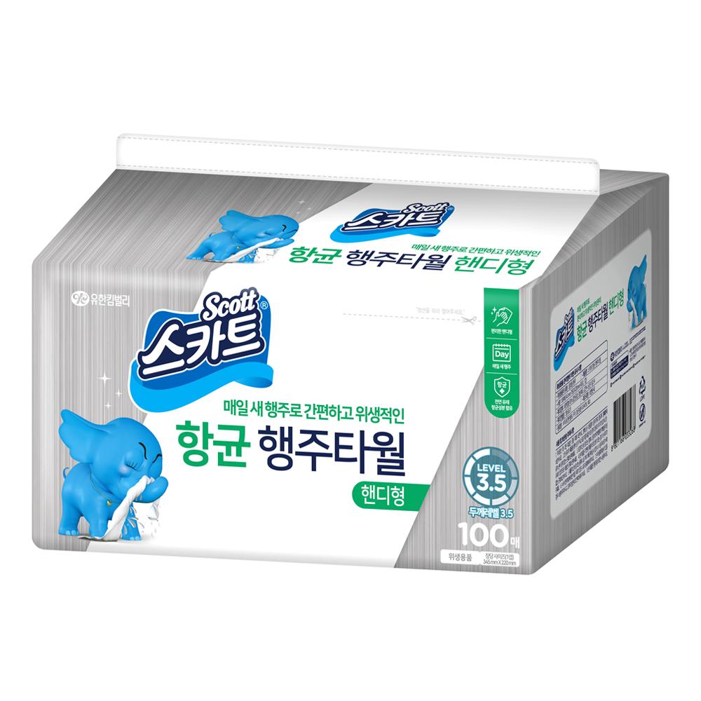 스카트 항균 행주타월 핸디형, 100매, 1개