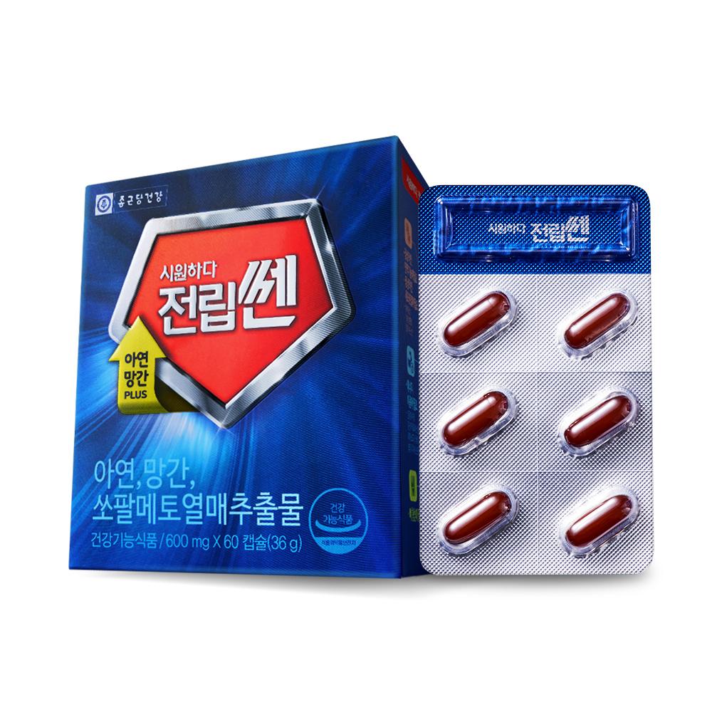 종근당건강 시원하다 전립쎈 쏘팔메토, 60정, 1개