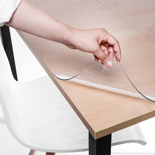 [Gold box] 쾌청 식탁용 라운드 테이블 매트, 투명, 가로세로(75 x 120 cm)/두께 (2mm) - 랭킹13위 (15920원)