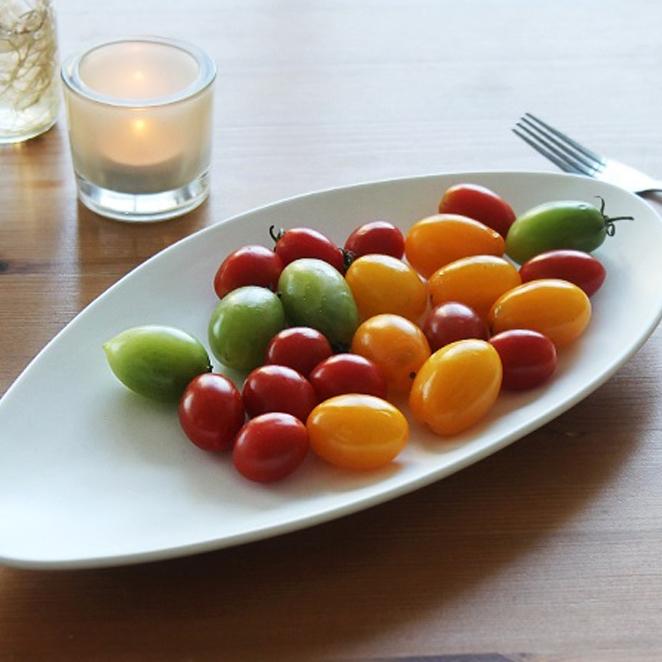 에라토 페블 롱 접시, 화이트