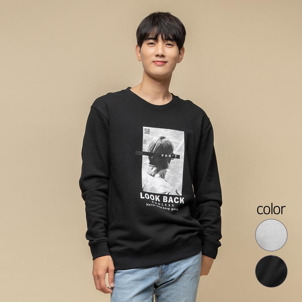 캐럿 남녀공용 릴렉스핏 그래픽 맨투맨 티셔츠 MJ04AA