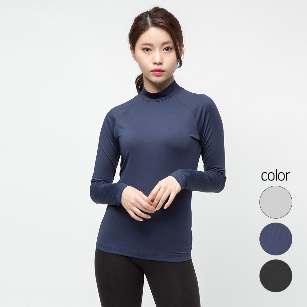 캐럿 여성용 기능성 긴소매 라그란 티셔츠