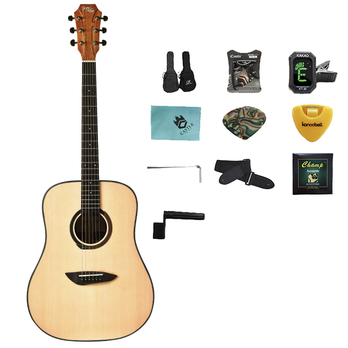 고퍼우드 어쿠스틱 기타 G100 + 구성품 10p, NS